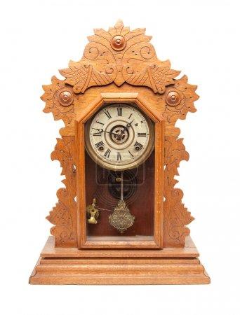 Photo pour Vintage horloge antique isolé sur fond blanc. - image libre de droit