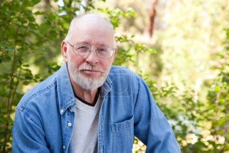 Happy Senior Man Outdoor Portrait