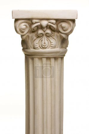 Ancient Column Pillar Replica on White
