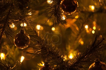 Warm Christmas Tree Decoration Abstract Background