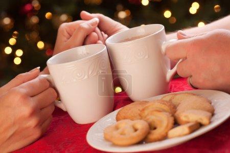 Man and Woman Sharing Hot Chocolate