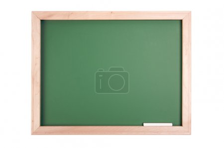 Blank Chalkboard Isolated on White