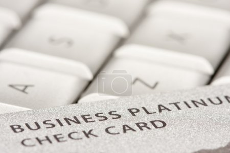 Photo for Business Credit Card On Laptop with Narrow Depth of Field - Royalty Free Image