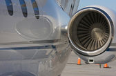 Private Jet and Engine Abstract