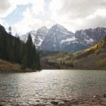Maroon Bells and Maroon Lake in Aspen Colorado...