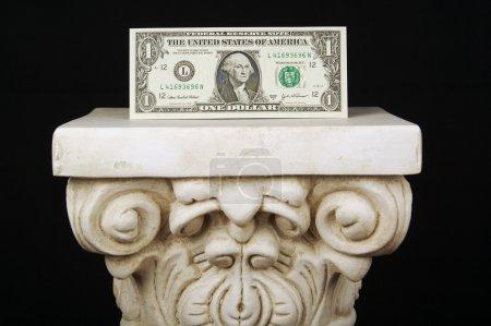 Dollar Bill on Column