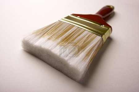 Photo for Dramatic Angle of Paint Brush - Focus is on the Bristles. - Royalty Free Image