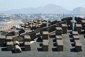 Nuevo techo de sitio de construcción de viviendas