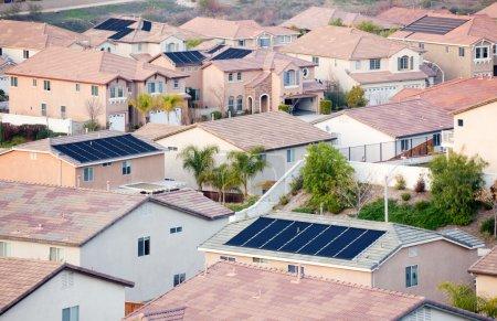 View Neighborhood with Solar Panels
