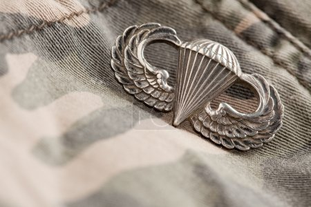 Paratrooper War Medal on Camouflage