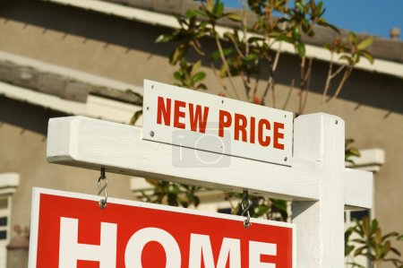 New Price Real Estate Sign and House