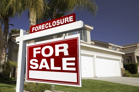 Foreclosure For Sale Real Estate Sign in Front of ...