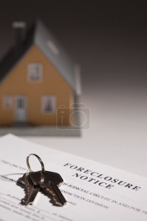 Foreclosure Notice, House Keys and House