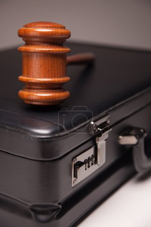 Gavel and Black Briefcase