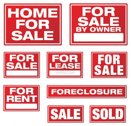 Various Real Estate and Business Signs