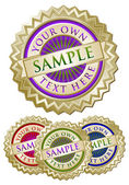 Set of Four Colorful Emblem Seals
