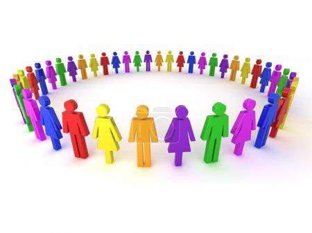 Multi colored illustration