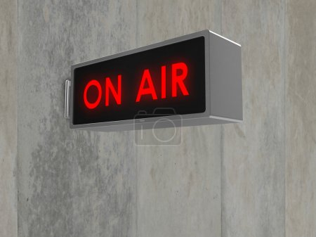 Illustration of an 'On Air' sign, with illuminated...