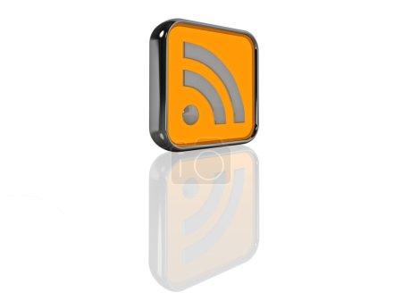 Illuminated 3D RSS Feed Icon