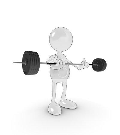 Cartoon weight lifter