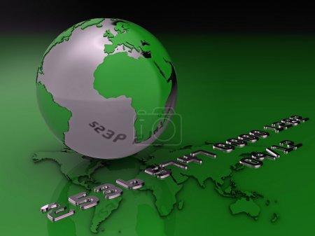 Global credit card illustration