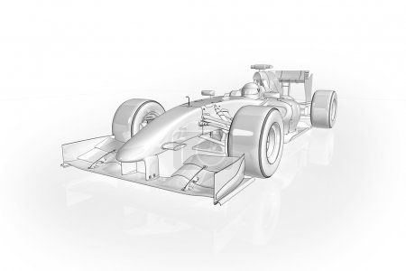 Photo pour Illustration de haute qualité d'une voiture de course de Formule 1 - image libre de droit