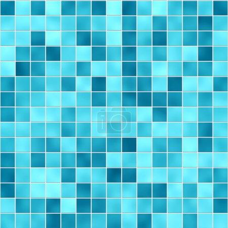 Photo pour Texture de petits carreaux dans différentes nuances de bleu - image libre de droit