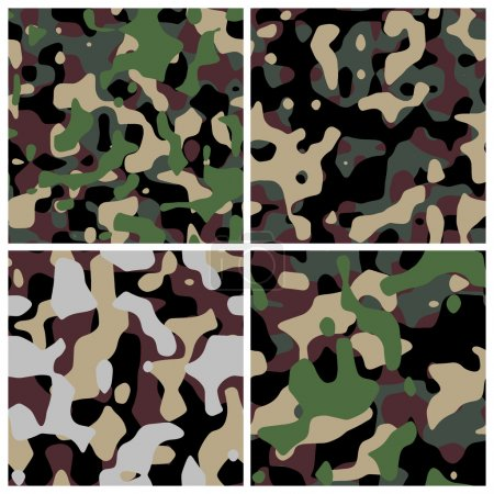 Different military camouflage textures
