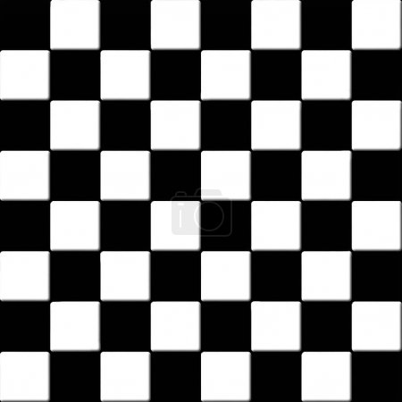 Black and white checkered tiles