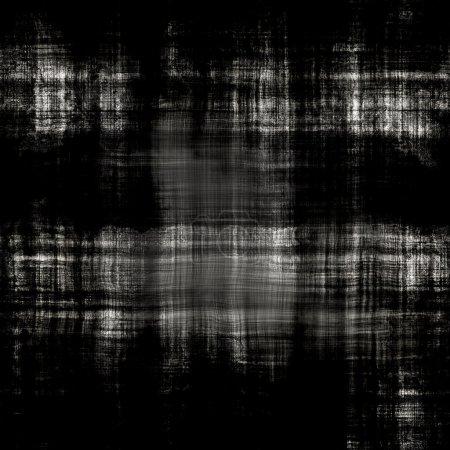 Photo pour Texture de toile sale noire sans couture avec des fils visibles - image libre de droit
