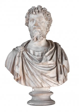 Ancient marble bust of the roman emperor Septimius...