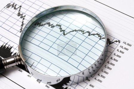 Photo for Analysing the stock market - Royalty Free Image