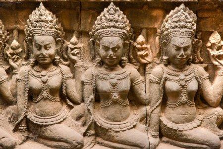 Apsara, Angkor Thom. cambodia.