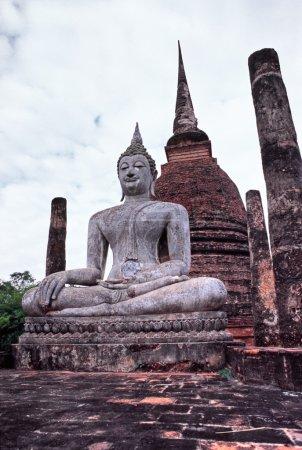 Buddha in the Historical park of Sukhothai, Thai