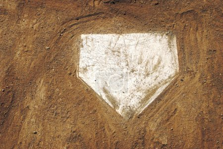 Photo for Home plate on baseball field with copy space - Royalty Free Image