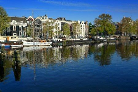 Amsterdam houseboats on Amstel