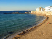 Bay and city beach in Gallipoli