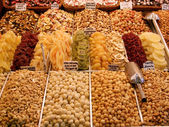 Candied fruits in market, Barcelona