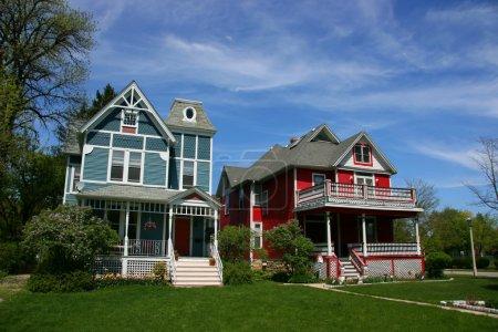 Photo pour Maisons en bois en Oak Park, Chicago, l'Illinois - image libre de droit