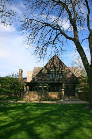 Photo pour Frank Lloyd Wright maison et studio à Oak Park, Chicago, Illinois - image libre de droit