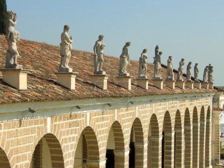 Statues above Villa Manin porch