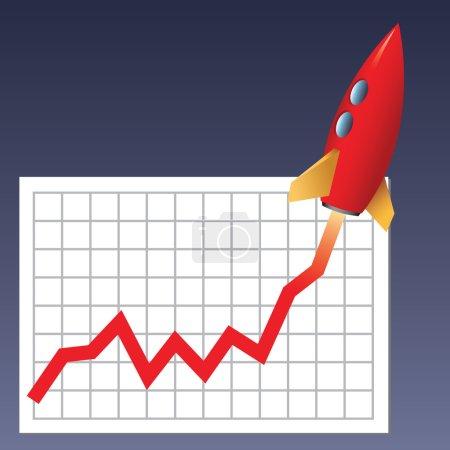 Business chart skyrocketing