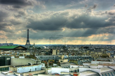 Paris roof tops view