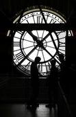 Orsay museum clock silhouette
