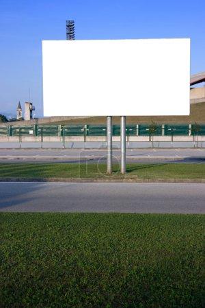 Blank billboard vertical