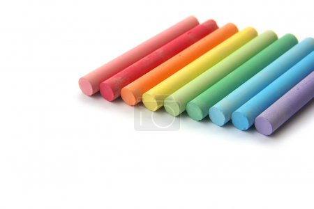 Rainbow of chalks