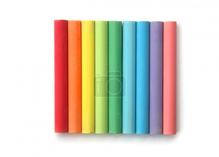Rainbow of chalks