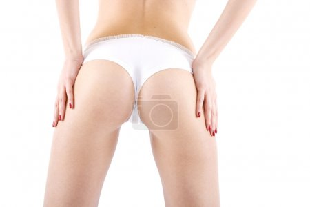 Rear view of girl buttocks