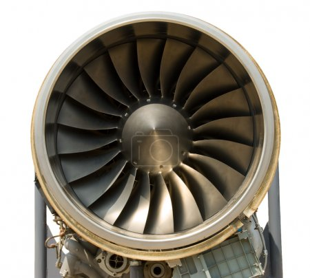 Photo pour Un moteur à réaction - proches, isolé avec chemin d'accès - image libre de droit