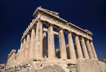 Photo for Parthenon in Greece and dark blue sky - Royalty Free Image